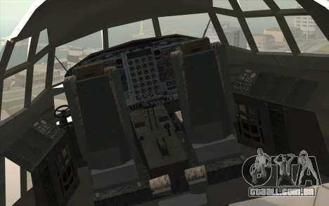 Lockheed C-130 Hercules Indonesian Air Force para GTA San Andreas vista traseira