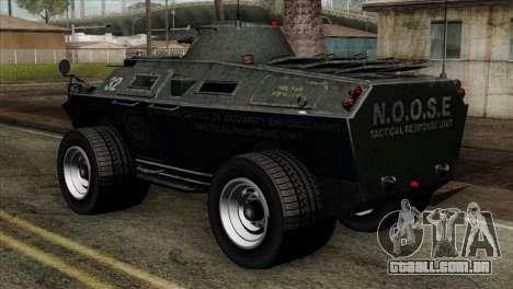 GTA 4 TBoGT Swatvan v2 para GTA San Andreas esquerda vista