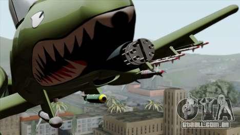 A-10 Warthog Shark Attack para GTA San Andreas vista traseira