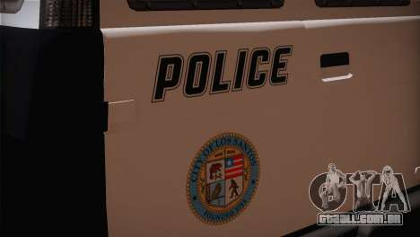 GTA 5 Police Transporter para GTA San Andreas vista traseira