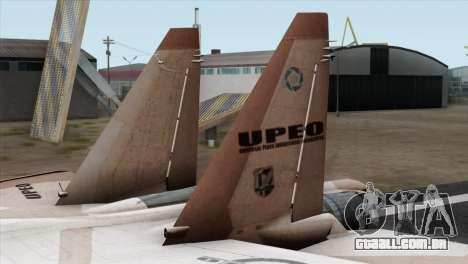 SU-37 UPEO para GTA San Andreas traseira esquerda vista