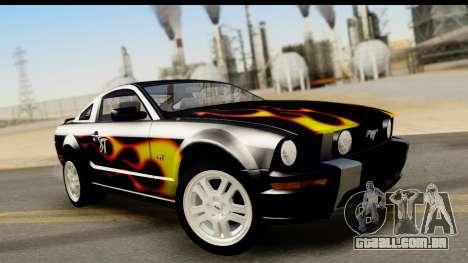 Ford Mustang GT para GTA San Andreas interior