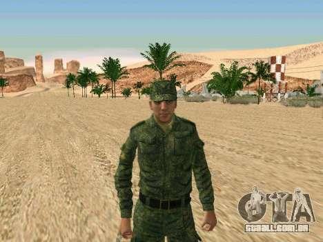 O militar russo está em uma nova forma para GTA San Andreas