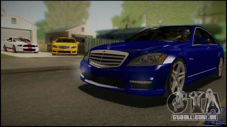 Mercedes-Benz S65 AMG 2012 Road version para GTA San Andreas vista interior