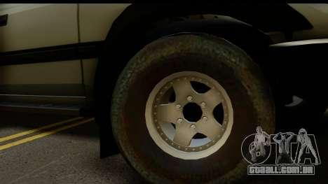 Toyota Land Cruiser 80 v1.0 para GTA San Andreas traseira esquerda vista