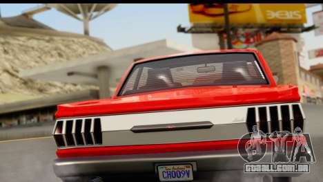 GTA 5 Vapid Blade v2 para GTA San Andreas vista direita