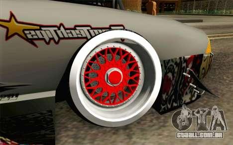 Elegy Modification para GTA San Andreas traseira esquerda vista