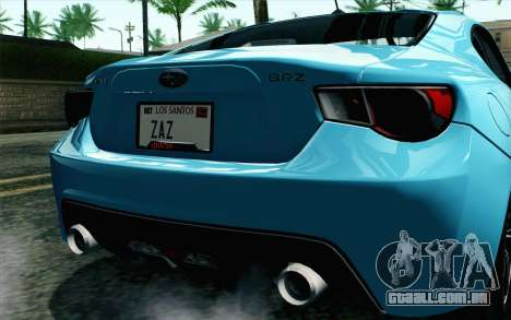 Subaru BRZ 2012 para GTA San Andreas