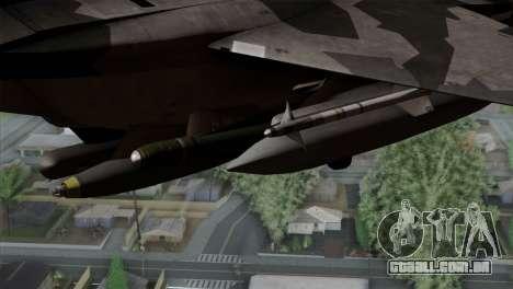 F-15E Yellow Squadron para GTA San Andreas vista direita