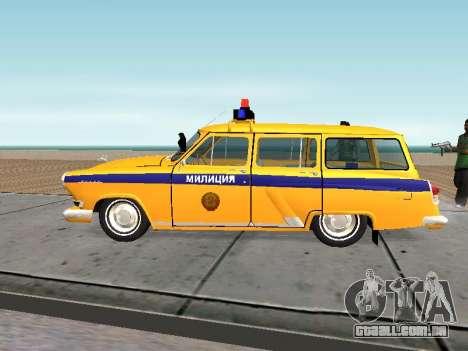 GÁS 22 Soviética polícia para GTA San Andreas esquerda vista