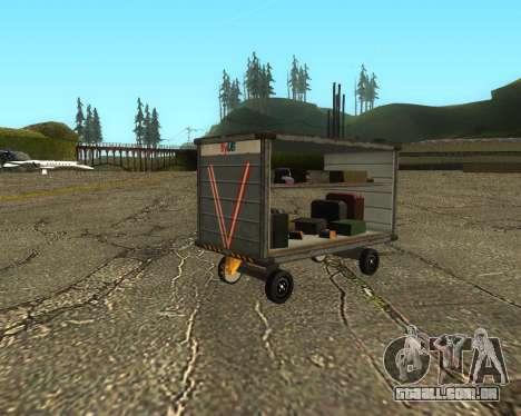 New Bagbox A para GTA San Andreas traseira esquerda vista
