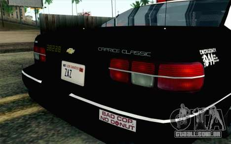 Chevy Caprice SAHP SAPD Highway Patrol v1 para GTA San Andreas vista traseira