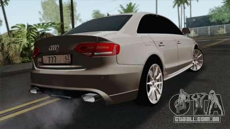 Audi S4 Sedan 2010 para GTA San Andreas esquerda vista