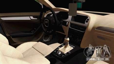 Audi S4 Sedan 2010 para GTA San Andreas vista direita