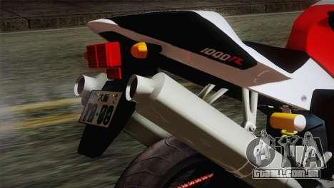 Honda RVT1000R (RC51) IVF para GTA San Andreas vista traseira