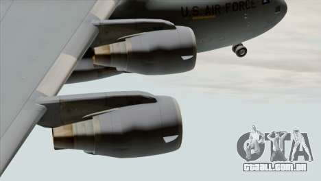 C-17A Globemaster III USAF March para GTA San Andreas vista direita