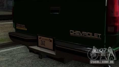 Chevrolet Suburban GMT400 1998 para GTA San Andreas vista traseira