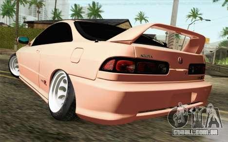 Acura Integra Type R 2001 JDM para GTA San Andreas esquerda vista