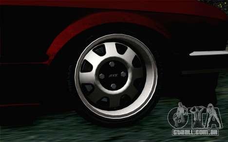 BMW E30 para GTA San Andreas traseira esquerda vista