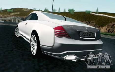 Maybach 57S Coupe Xenatec para GTA San Andreas esquerda vista