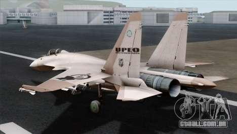 SU-37 UPEO para GTA San Andreas esquerda vista