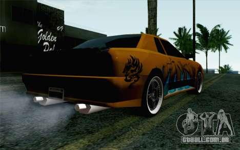 Nights Elegy para GTA San Andreas esquerda vista