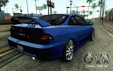 Honda Integra Type R 2000 Stock para GTA San Andreas esquerda vista