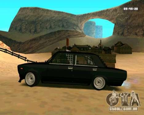 VAZ 2107 CÓLICAS para GTA San Andreas esquerda vista