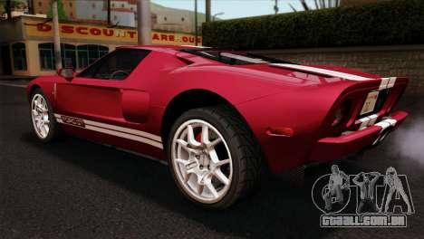 Ford GT para GTA San Andreas esquerda vista