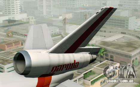 DC-10-30 Garuda Indonesia Sulawesi para GTA San Andreas traseira esquerda vista