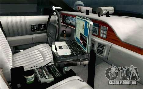 Chevy Caprice SAHP SAPD Highway Patrol v1 para GTA San Andreas vista direita