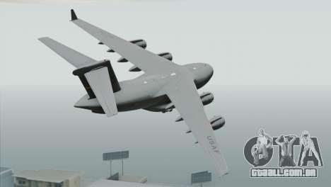 C-17A Globemaster III USAF March para GTA San Andreas esquerda vista