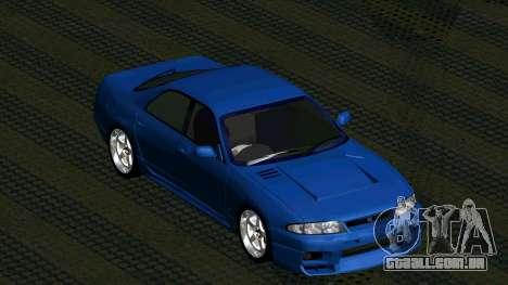Nissan Skyline R33 4door outech para GTA San Andreas vista traseira