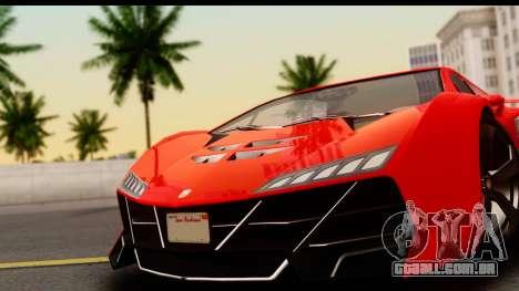 GTA 5 Pegassi Zentorno Zen Edition para GTA San Andreas traseira esquerda vista