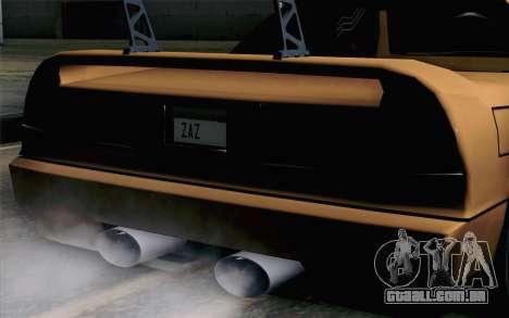 Infernus Edicte v2 para GTA San Andreas vista traseira