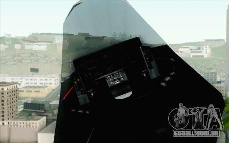 Sukhoi PAK-FA China Air Force para GTA San Andreas vista direita