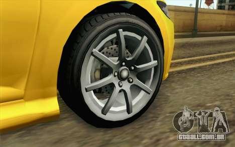 GTA V Dinka Blista IVF para GTA San Andreas traseira esquerda vista