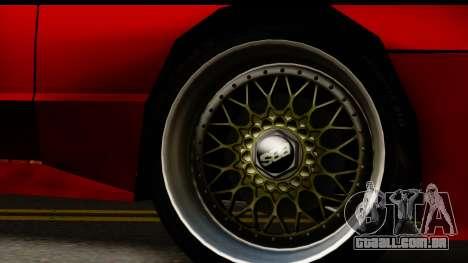 Elegy V1 para GTA San Andreas vista traseira