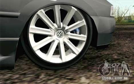 Volkswagen Golf GL para GTA San Andreas traseira esquerda vista