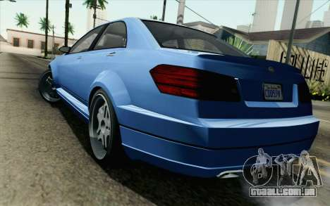GTA 5 Benefactor Schafter para GTA San Andreas esquerda vista