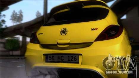 Opel Corsa OPC para GTA San Andreas vista traseira