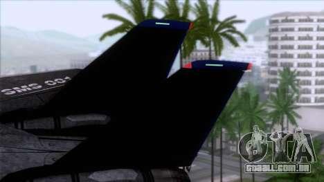 F-14 Neon Blue Macross Frontier para GTA San Andreas traseira esquerda vista