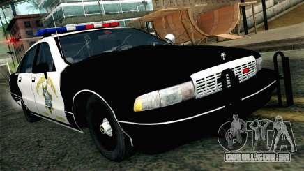 Chevy Caprice SAHP SAPD Highway Patrol v1 para GTA San Andreas