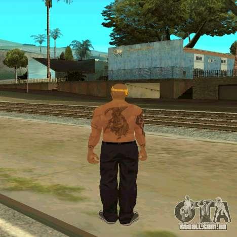 Macheter Vagos para GTA San Andreas por diante tela
