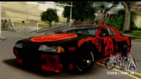 Elegy NASCAR para GTA San Andreas esquerda vista