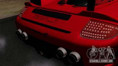 Gemballa Mirage GT v3 Windows Up para GTA San Andreas vista traseira