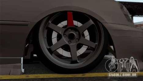 Toyota Crown para GTA San Andreas traseira esquerda vista