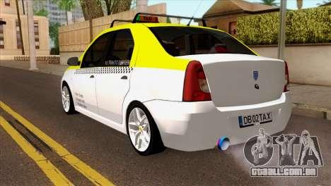 Dacia Logan Taxi para GTA San Andreas esquerda vista