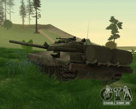 T-72 para GTA San Andreas traseira esquerda vista