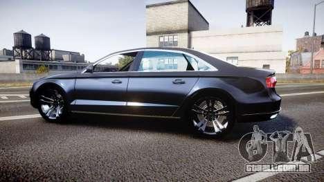 Audi A8 L 2015 Chinese style para GTA 4 esquerda vista